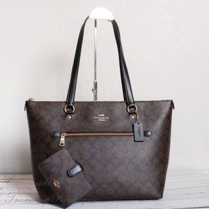 NWT Coach Signature Gallery Tote & Wallet *SET*